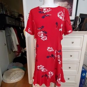 RED CUT OUT DRESS BY SOCIALITE SZ XL NWT